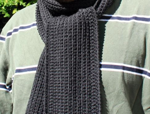 Crochet Mens Scarf New Dans Minimalist Scarf by Hookedup A Perfect Scarf for the Of Gorgeous 49 Ideas Crochet Mens Scarf