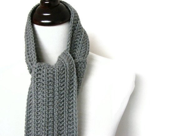 Crochet Mens Scarf New Mens Scarf Gray Crochet Man Long Masculine Uni Neck Warmer Of Gorgeous 49 Ideas Crochet Mens Scarf