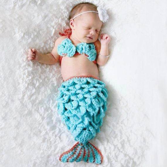 Crochet Mermaid Baby Outfit Beautiful Mermaid Infant Crochet Outfit for Photo Prop Of Great 49 Pics Crochet Mermaid Baby Outfit
