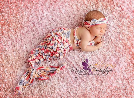 Crochet Mermaid Baby Outfit Best Of Items Similar to Crochet Baby Mermaid Tail Outfit Of Great 49 Pics Crochet Mermaid Baby Outfit