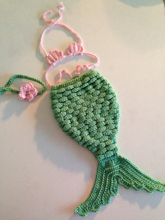 Crochet Mermaid Baby Outfit Lovely Items Similar to Made to order Crochet Newborn Mermaid Of Great 49 Pics Crochet Mermaid Baby Outfit