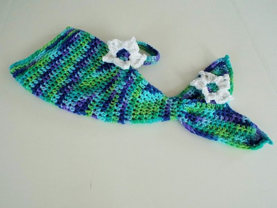 Crochet Mermaid Baby Outfit New Baby Mermaid Tail Cocoon Outfit Crochet Clothing with Flower Of Great 49 Pics Crochet Mermaid Baby Outfit