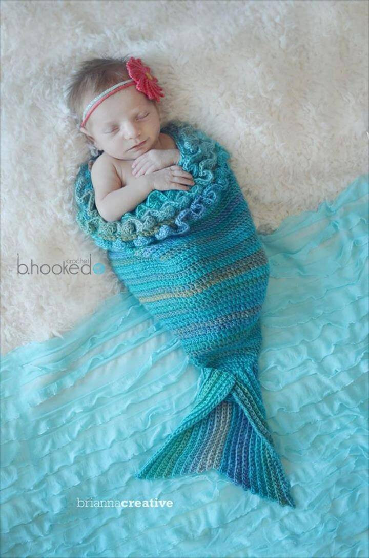 22 Free Crochet Mermaid Tail Blanket Patterns DIY & Crafts