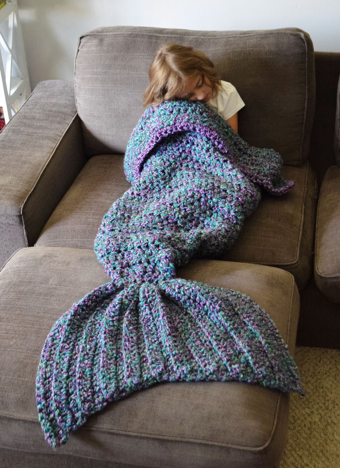 Crochet Mermaid Blanket Awesome Crocheted Mermaid Tail Blankets by Melanie Campbell Of Unique 48 Images Crochet Mermaid Blanket