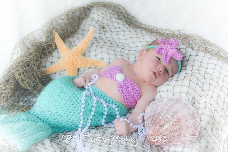 Baby Idea Crocheted Baby Mermaid Outfit