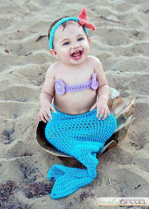 Crochet Mermaid Outfit Luxury Baby Crochet Mermaid Costume for Your Princess Of Contemporary 36 Photos Crochet Mermaid Outfit