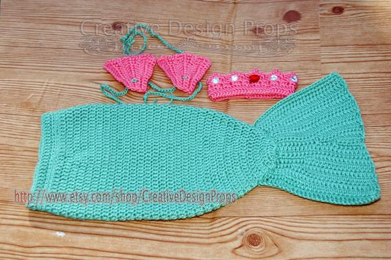 Crochet Mermaid Outfit Unique Crochet Mermaid Outfit Tail and Seashell Bikini top with Of Contemporary 36 Photos Crochet Mermaid Outfit