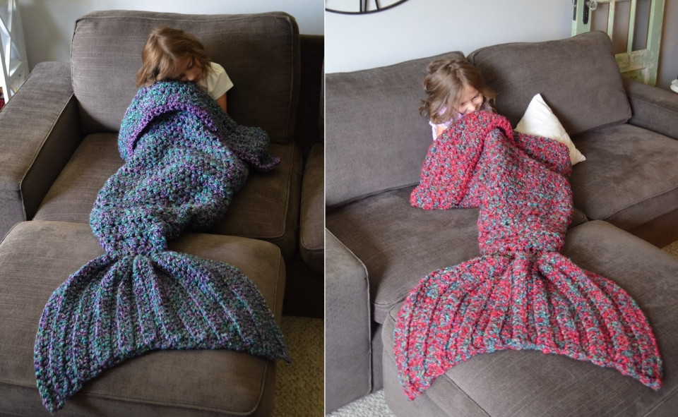 Crochet Mermaid Tail Awesome Crocheted Mermaid Tail Blanket Turns You Into A Fictitious Of Adorable 47 Pictures Crochet Mermaid Tail