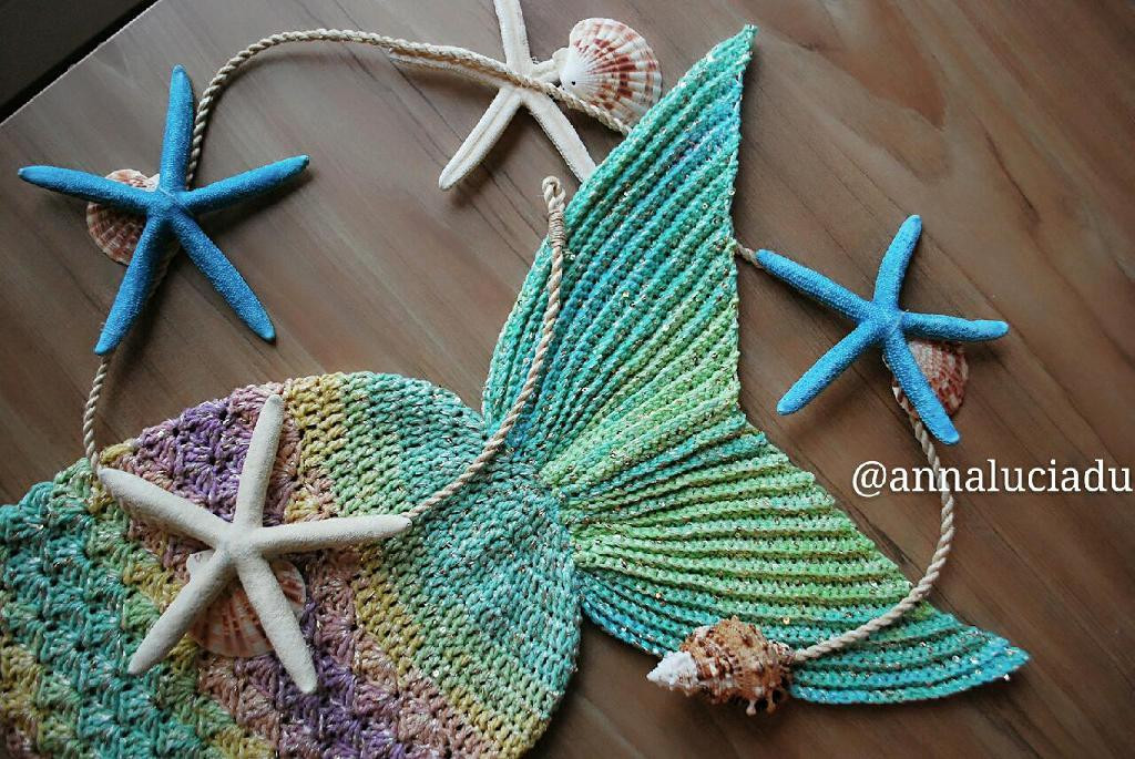 Crochet Mermaid Tail Blankets & Props for Kids & Adults