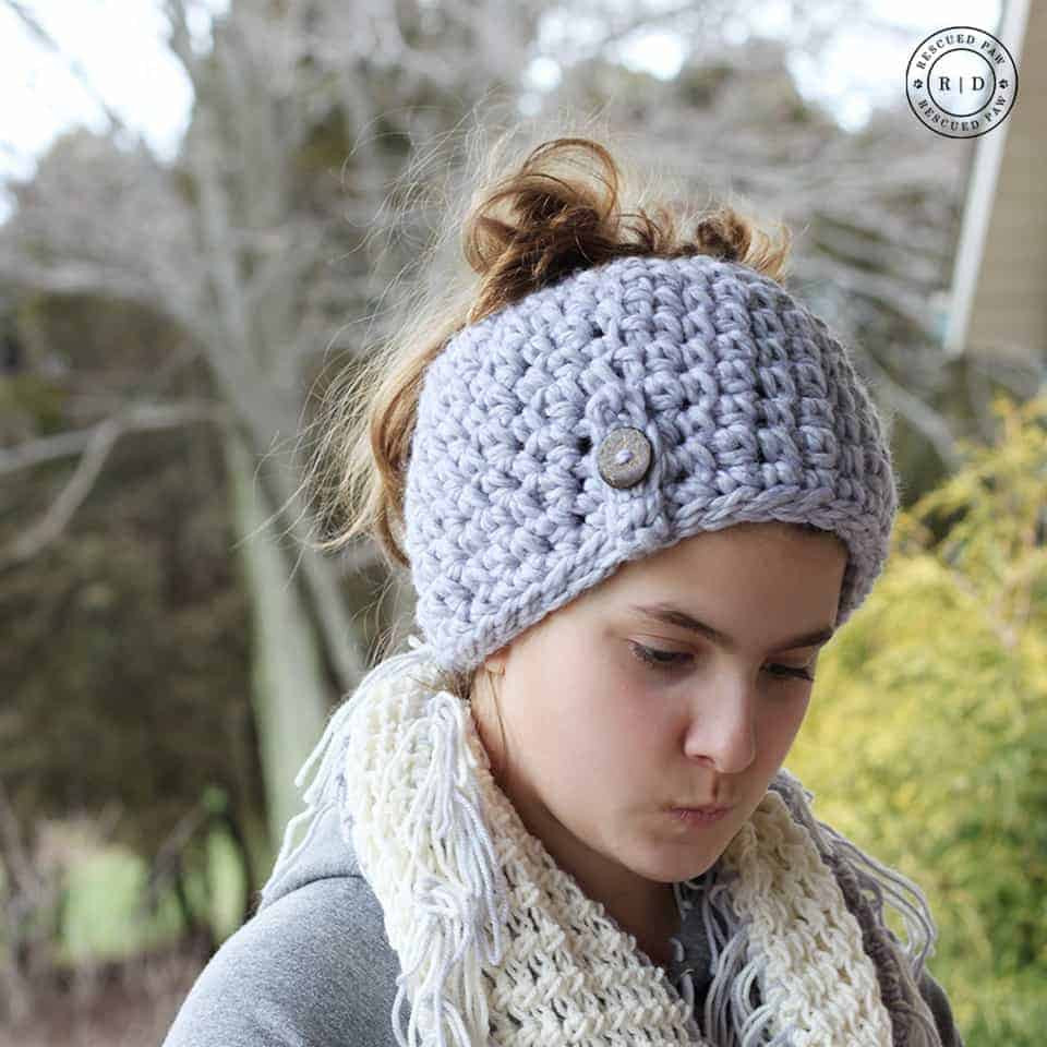 Crochet Messy Bun Beanie Awesome E Hour Messy Bun Beanie Crochet Pattern 1 Hour Messy Of New 43 Photos Crochet Messy Bun Beanie