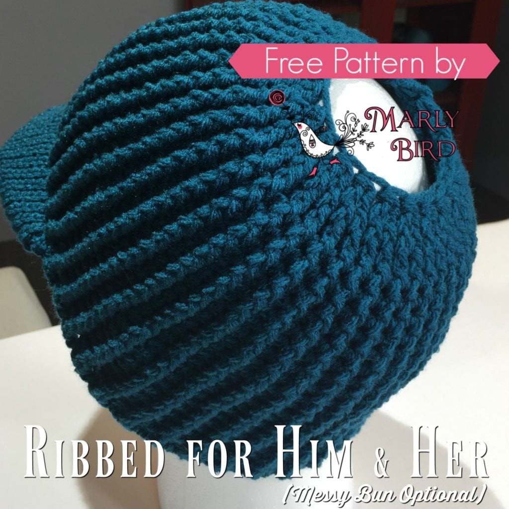 Free Crochet Messy Bun Hat Pattern Marly Bird