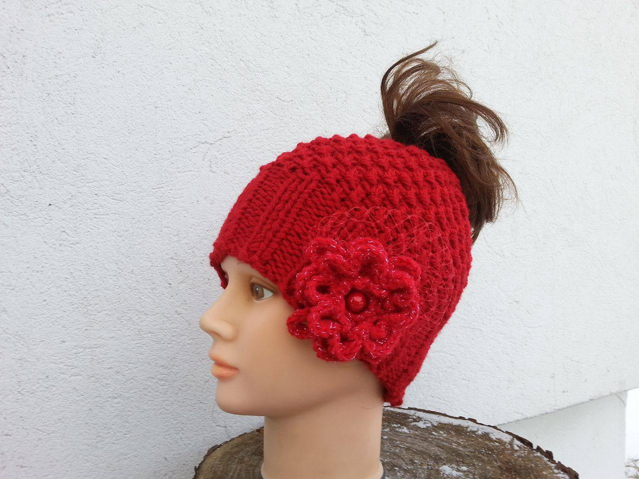 Crochet Messy Bun Beanie Lovely Messy Bun Beanie Rose Freeform Crochet Women Hat Winter Messy Of New 43 Photos Crochet Messy Bun Beanie