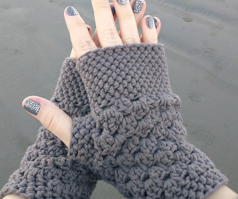 Crochet Mittens Beautiful Domestic Bliss Squared Chunky Fingerless Gloves Free Of Brilliant 48 Pictures Crochet Mittens
