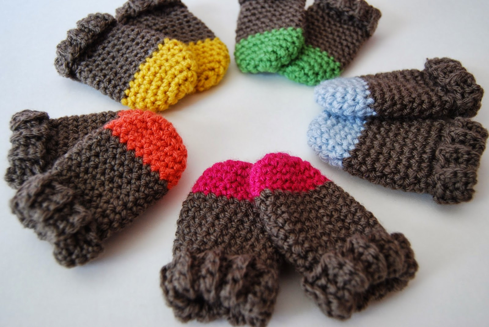 Crochet Mittens Unique Tangled Happy Two tone Baby Mittens Crochet Pattern Baby Of Brilliant 48 Pictures Crochet Mittens