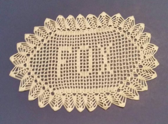 Crochet Name Doily Awesome Filet Crochet Name Doily 3 Letters Letter Style A Custom Made Of Lovely 45 Images Crochet Name Doily