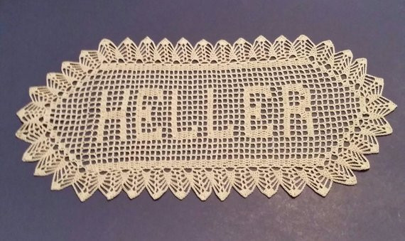 Crochet Name Doily Awesome Filet Crochet Name Doily 6 Letters Letter Style A Custom Made Of Lovely 45 Images Crochet Name Doily