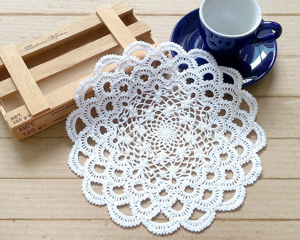 Crochet Name Doily Beautiful Crochet Doily 7 Inch Doily Small Doily White Doily Of Lovely 45 Images Crochet Name Doily