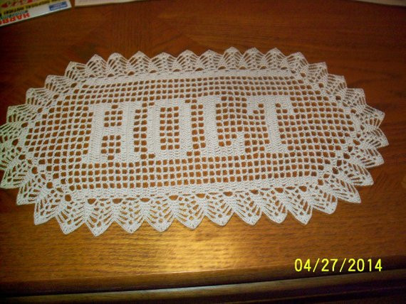 Crochet Name Doily Beautiful Filet Crochet Name Doily 3 Letters Letter by theplaidpolkadot Of Lovely 45 Images Crochet Name Doily