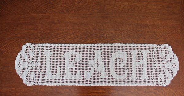 Crochet Name Doily Beautiful Filet Crochet Name Doily by Tekastreasures On Etsy $30 00 Of Lovely 45 Images Crochet Name Doily