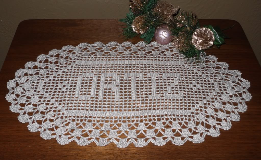 Crochet Name Doily Best Of Crocheted Triple Crown Name Doily Of Lovely 45 Images Crochet Name Doily