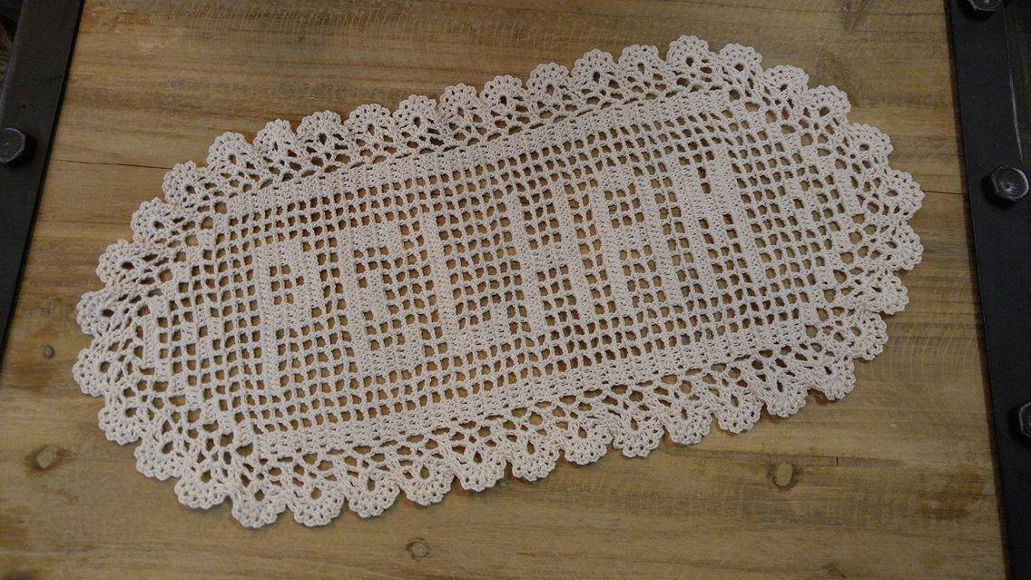 Filet Crochet Name Doily