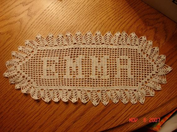 Crochet Name Doily Elegant New Custom Crochet Name Doily Of Your Choice Up to 8 Letters Of Lovely 45 Images Crochet Name Doily
