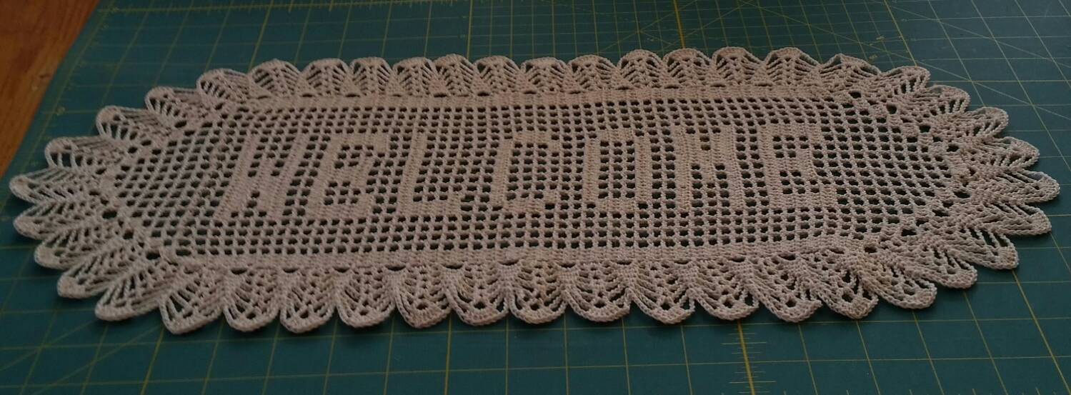 Crochet Name Doily Fresh Filet Crochet Name Wel E Doily Letter Style A Natural Thread Of Lovely 45 Images Crochet Name Doily