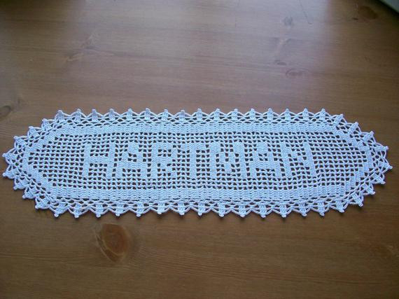 Crochet Name Doily Inspirational New Crocheted Name Doillyrsonalized Doily by Mycrochets Of Lovely 45 Images Crochet Name Doily