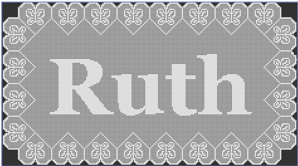 Crochet Name Doily Lovely Filet Crochet Ruth Name Doily Of Lovely 45 Images Crochet Name Doily