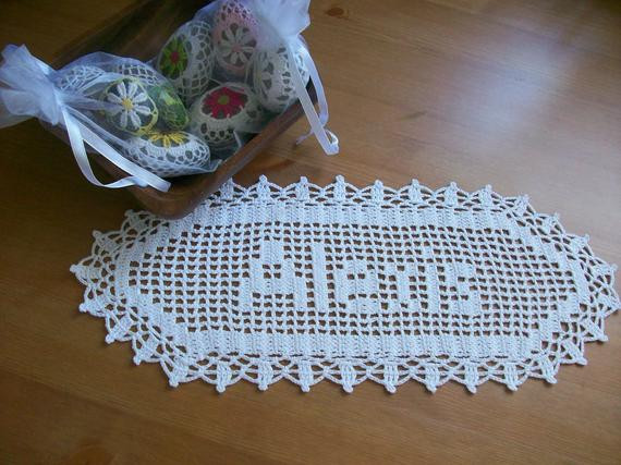 Items similar to New Crocheted Name Doillyrsonalized