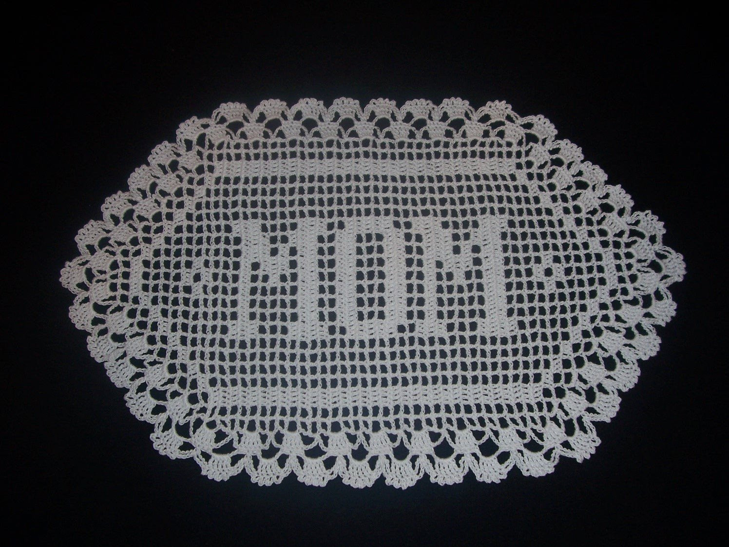 Crochet Name Doily New Handmade Mom Filet Crochet Name Doily by Heirloomcrochet Of Lovely 45 Images Crochet Name Doily