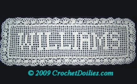 Crochet Name Doily Unique 202 Best Images About Filet Crochet On Pinterest Of Lovely 45 Images Crochet Name Doily