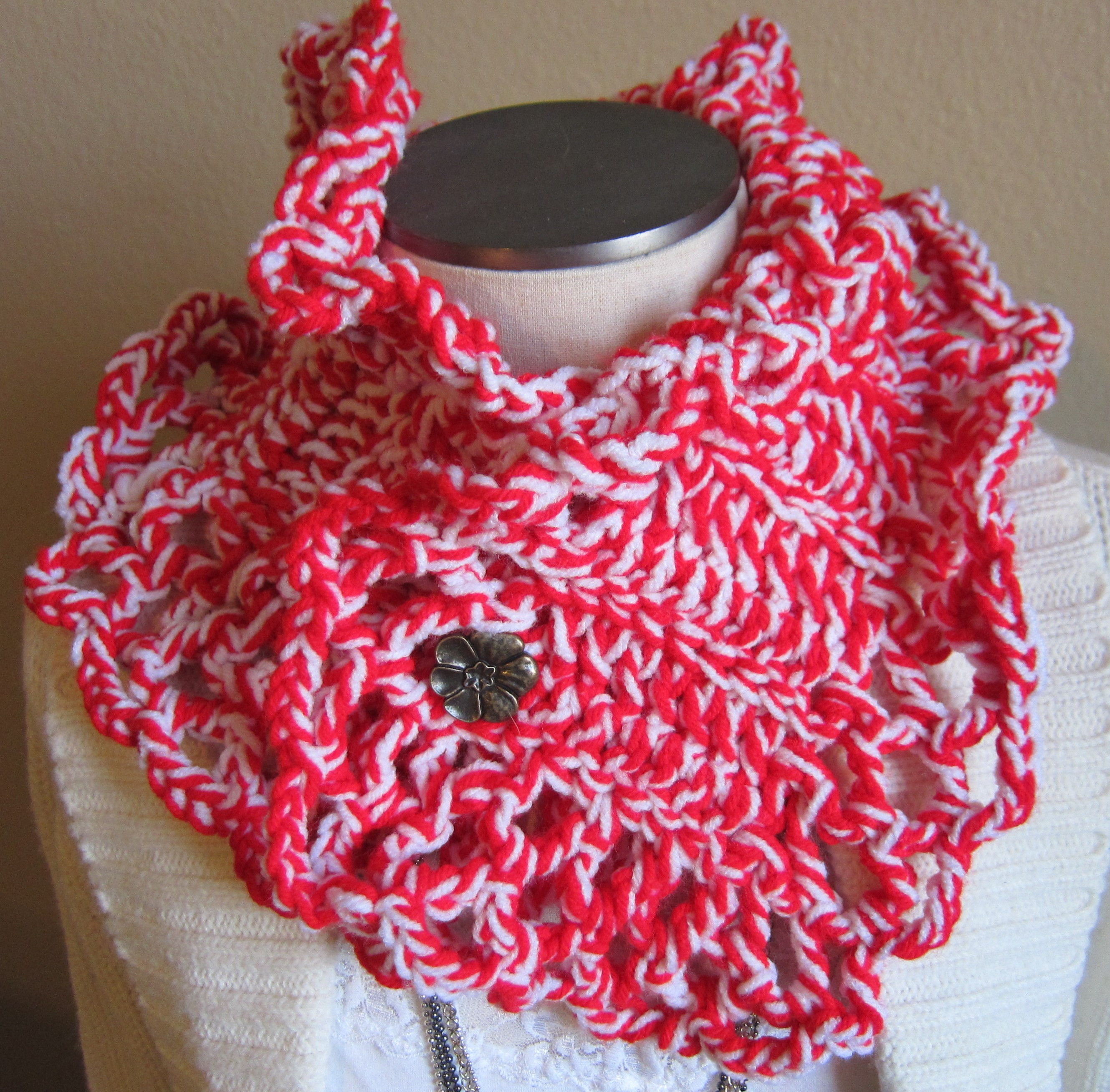 Crochet Neck Scarf Awesome Crochet Neck Warmer Scarf with Flower button Made with 100 Of Great 50 Ideas Crochet Neck Scarf