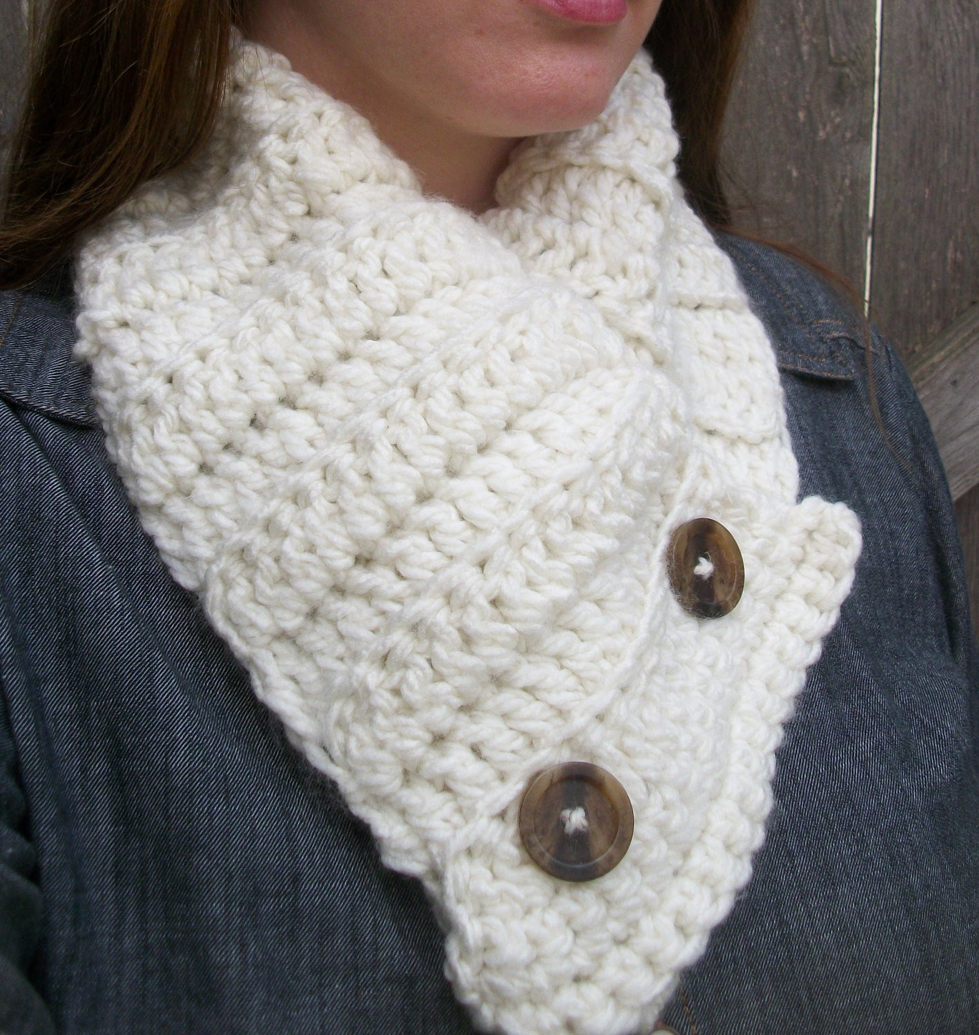 Crochet Neck Scarf Best Of buttoned Scarf Cowl Scarf Chunky Neck Warmer button Up Of Great 50 Ideas Crochet Neck Scarf