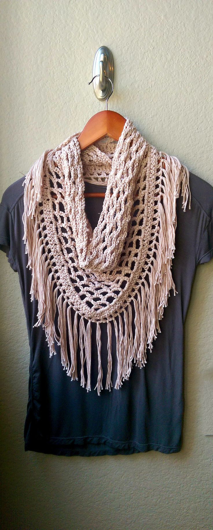 Crochet Neck Scarf Best Of Crochet Fringe Cowl Neck Scarf Pattern Of Great 50 Ideas Crochet Neck Scarf