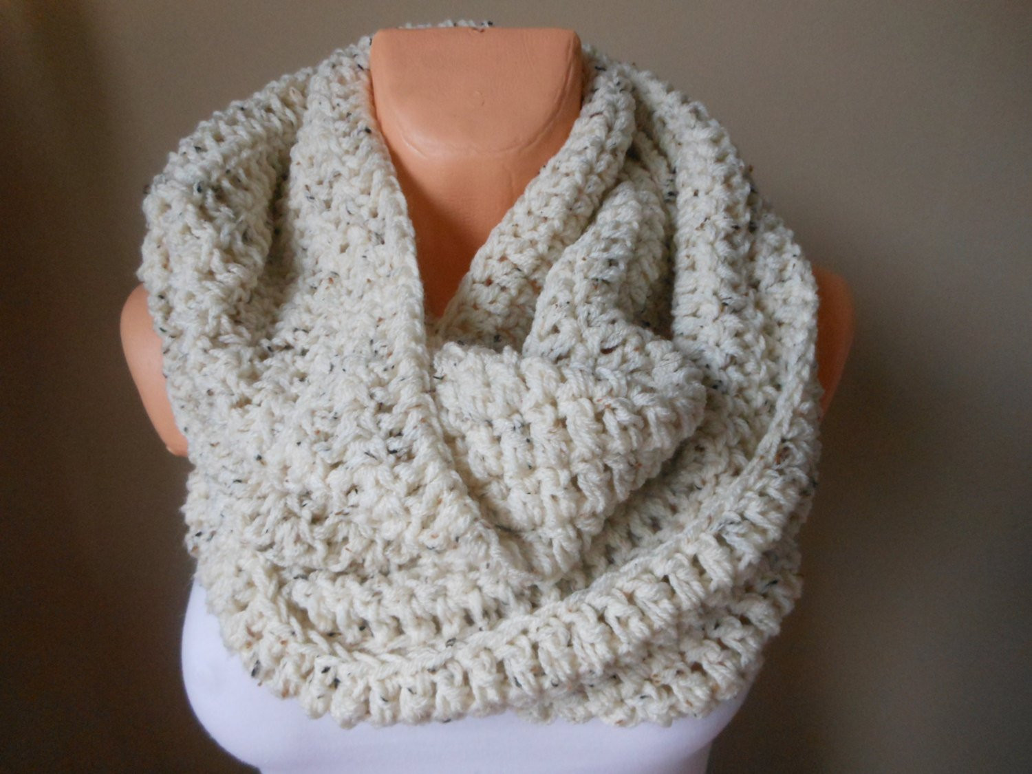 Crochet Neck Scarf Best Of Crochet Infinity Scarf Cowl Neck Warmer Oatmeal Of Great 50 Ideas Crochet Neck Scarf