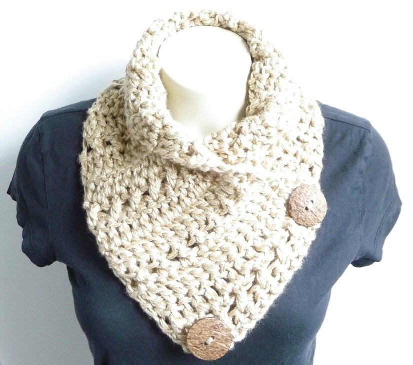 Crochet Neck Scarf Elegant Crochet Cowl Pattern Crochet Scarf Pattern button Scarf Of Great 50 Ideas Crochet Neck Scarf