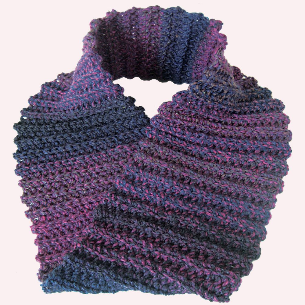 Crochet Neck Scarf Fresh Crochet Scarf Cowl Neck Warmer Purple Mobius Infinity Of Great 50 Ideas Crochet Neck Scarf