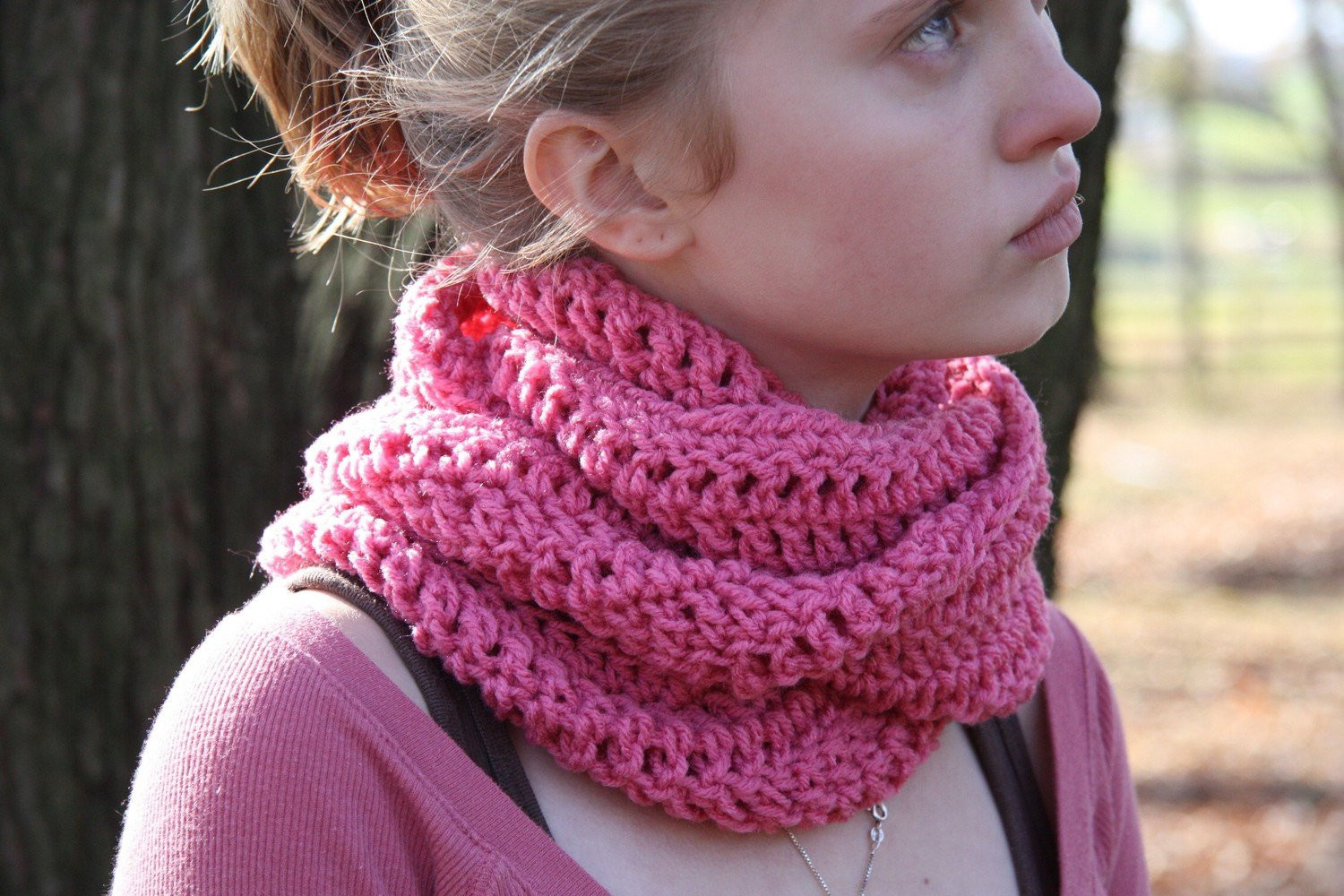 all in one crochet cowl neck hood and scarf item by yarnnscents