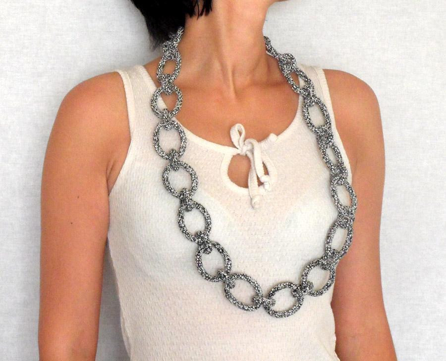 Crochet Necklace Chain Awesome 11 Dazzling Openwork Crochet Patterns Of Charming 44 Ideas Crochet Necklace Chain