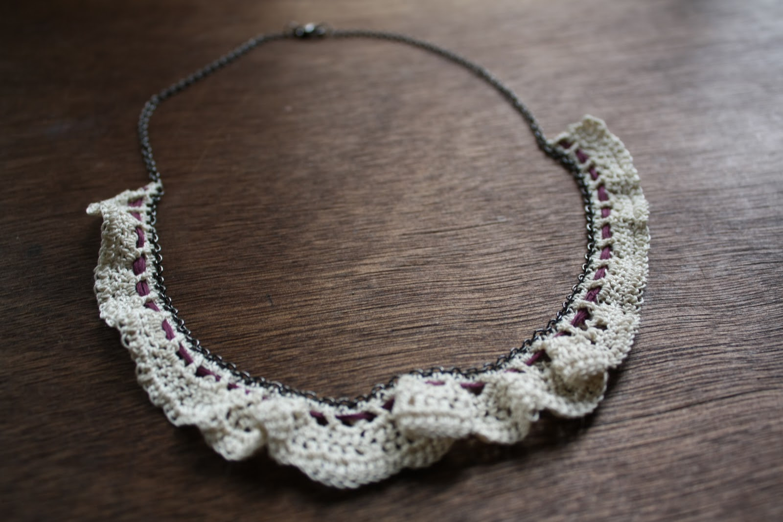 Crochet Necklace Chain Best Of Lock and Spoon Crochet Necklaces Of Charming 44 Ideas Crochet Necklace Chain