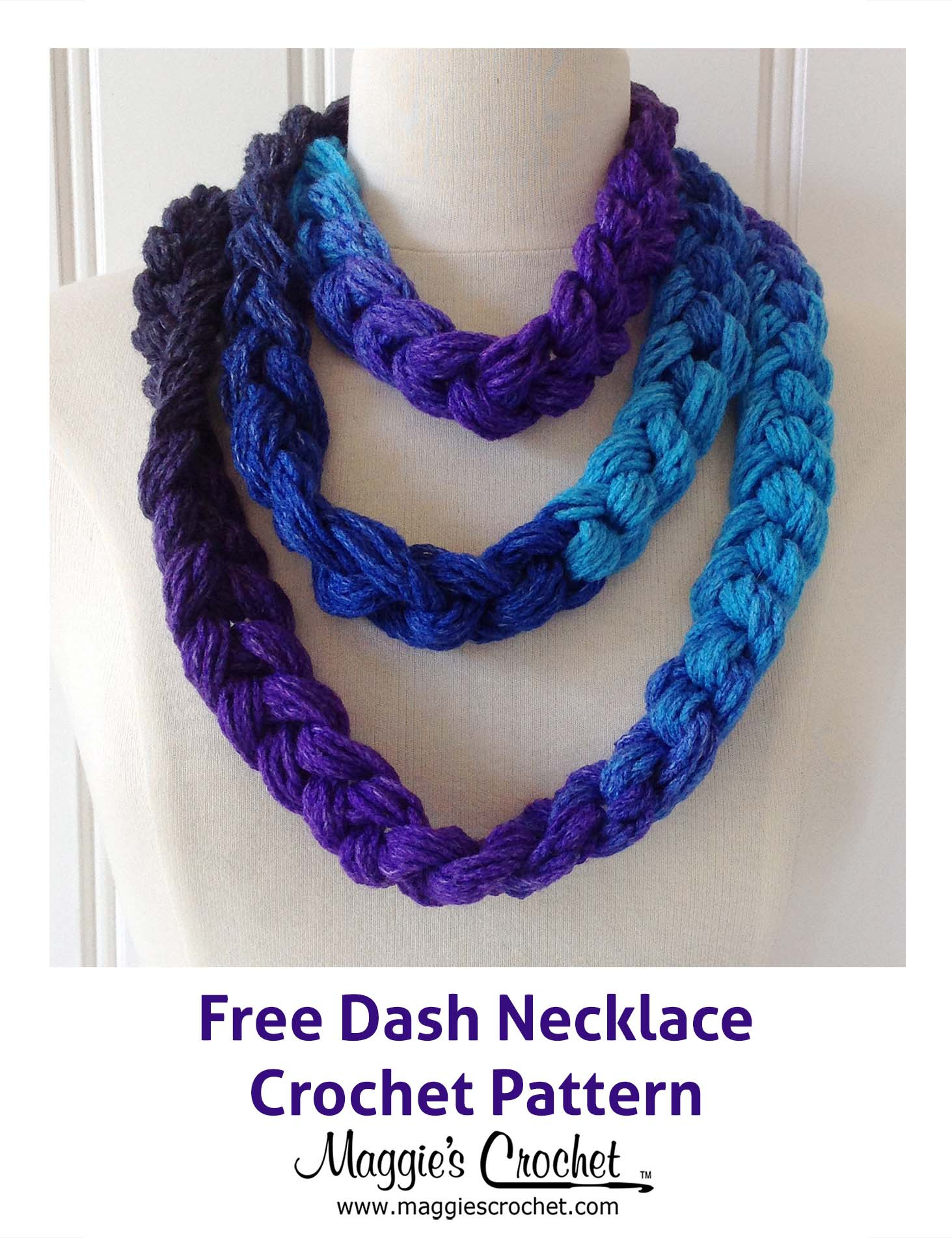 Crochet Necklace Chain Elegant Dash Chain Necklace Free Crochet Pattern Maggie S Of Charming 44 Ideas Crochet Necklace Chain