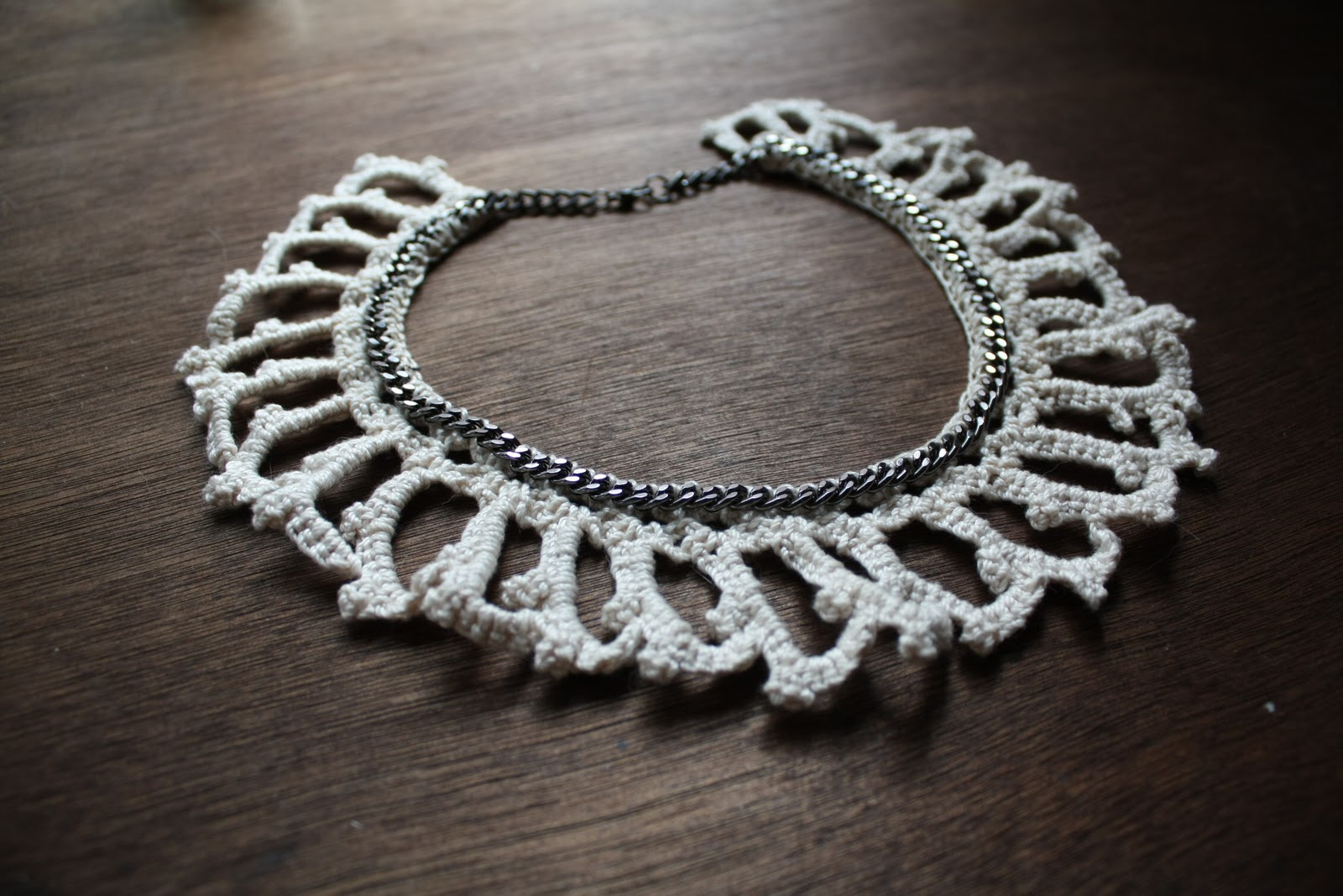Lock and Spoon Crochet Necklaces
