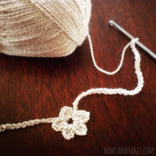 Crochet A Day Heart and Flower Crochet Necklaces