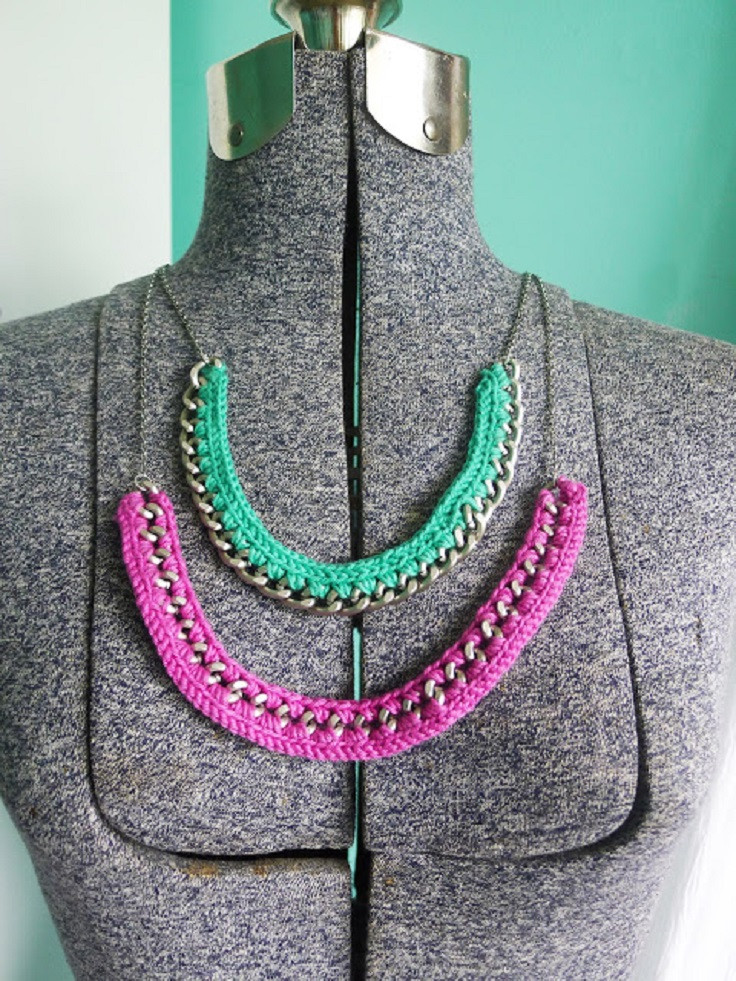 Crochet Necklace Chain Lovely top 10 Diy Summer Colourful Necklaces top Inspired Of Charming 44 Ideas Crochet Necklace Chain