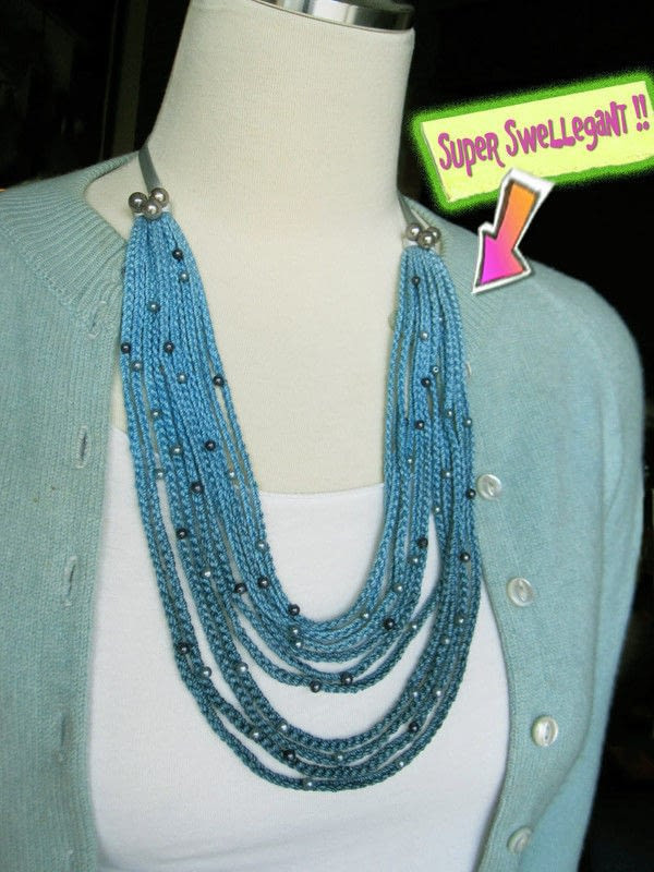 Crochet Necklace Chain Luxury Crochet Ombre Necklace · How to Knit Crochet A Knit Of Charming 44 Ideas Crochet Necklace Chain