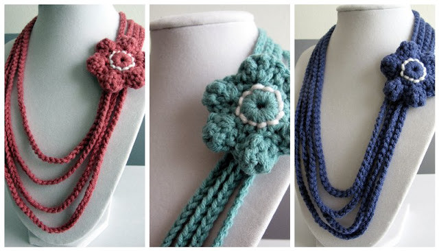 Crochet Necklace Chain New Crochet Necklace with Flowers Of Charming 44 Ideas Crochet Necklace Chain