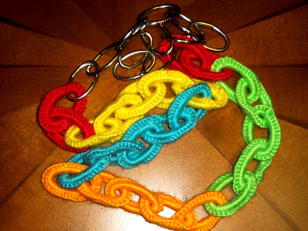 Crochet Necklace Chain New Rainbow Neon Crocheted Chain Necklace Boho Retro by Of Charming 44 Ideas Crochet Necklace Chain
