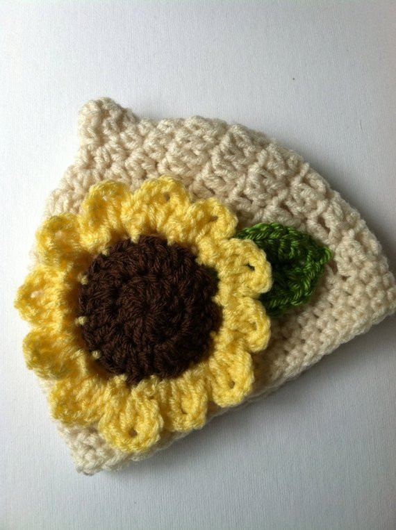 Crochet Newborn Beanie Unique Crochet Baby Hat with Sunflower Crochet Baby Hat Newborn Of Luxury 43 Pictures Crochet Newborn Beanie