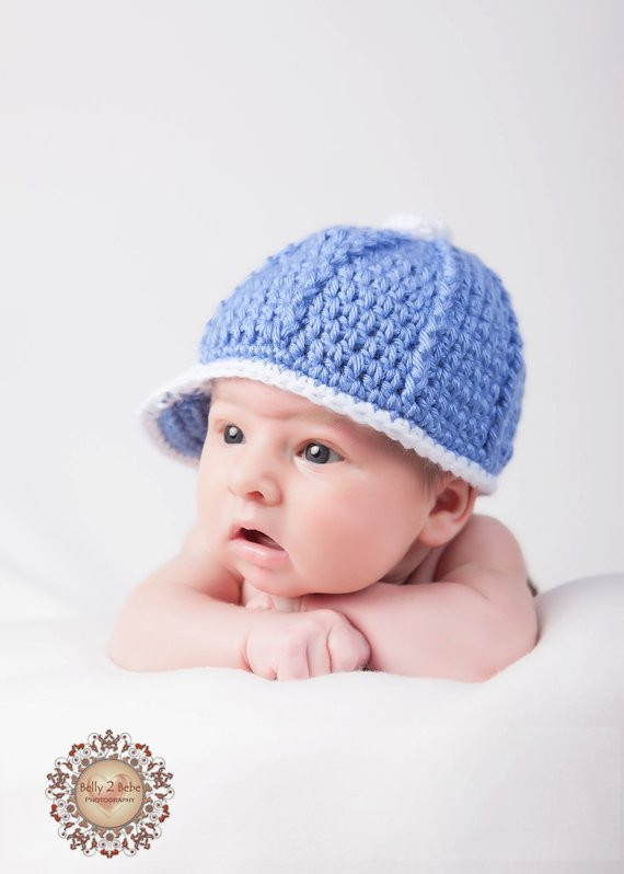Items similar to Crochet Baby Hat Baby Baseball Cap on Etsy